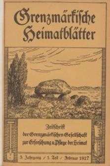Grenzmärkische Heimatblätter, 1927-1928