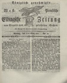Elbingsche Zeitung, No. 21 Montag, 15 März 1802