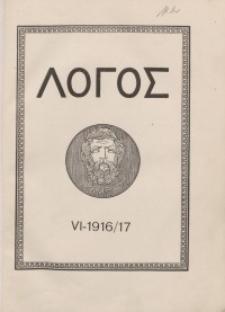 Logos internationale Zeitschrift für Philosophie der Kultur, VI. Jahrgang, 1916/17, H. 1-3