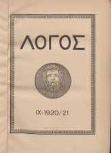 Logos internationale Zeitschrift für Philosophie der Kultur, IX. Jahrgang, 1920/21, H. 1-3
