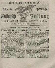 Elbingsche Zeitung, No. 33 Montag, 26 April 1802
