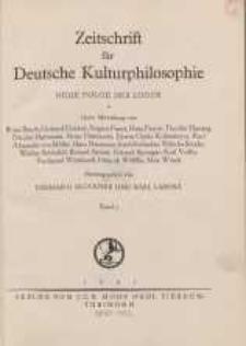 Zeitschrift für Deutsche Kulturphilosophie, 1941, Bd. 7, H. 1