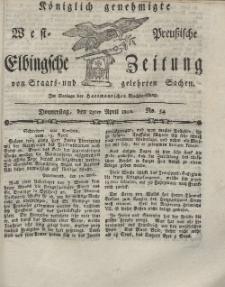 Elbingsche Zeitung, No. 34 Donnerstag, 29 April 1802