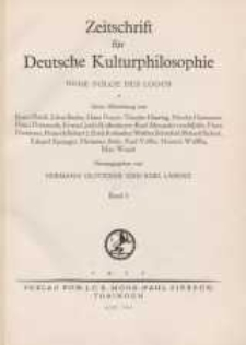 Zeitschrift für Deutsche Kulturphilosophie, 1937, Bd. 3, H. 1