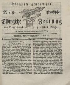 Elbingsche Zeitung, No. 45 Montag, 7 Juni 1802