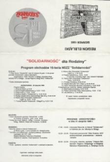"""NSZZ """"Solidarność"""" : 1980-1995 – zaproszenie"""