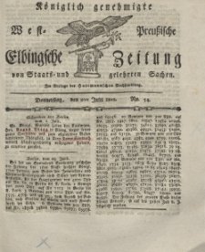 Elbingsche Zeitung, No. 54 Donnerstag, 8 Juli 1802
