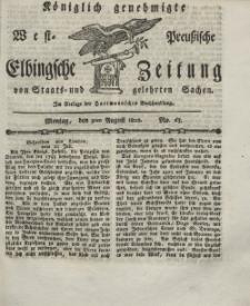 Elbingsche Zeitung, No. 63 Montag, 9 August 1802