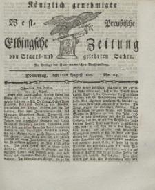 Elbingsche Zeitung, No. 64 Donnerstag, 12 August 1802