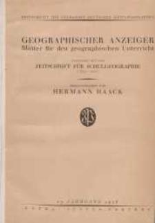 Geographischer Anzeiger: Blätter für den Geographischen Unterricht vereinigt mit der Zeitschrift für Schulgeographie, 27. Jahrgang, 1926