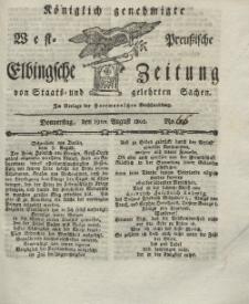 Elbingsche Zeitung, No. 66 Donnerstag, 19 August 1802