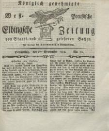 Elbingsche Zeitung, No. 70 Donnerstag, 2 September 1802
