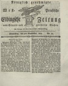 Elbingsche Zeitung, No. 72 Donnerstag, 9 September 1802