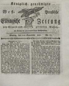 Elbingsche Zeitung, No. 75 Montag, 20 September 1802