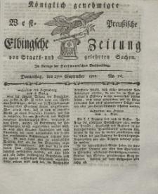 Elbingsche Zeitung, No. 76 Donnerstag, 23 September 1802