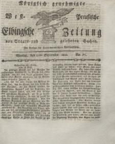 Elbingsche Zeitung, No. 77 Montag, 27 September 1802