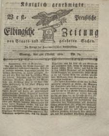 Elbingsche Zeitung, No. 79 Montag, 4 Oktober 1802