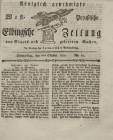Elbingsche Zeitung, No. 80 Donnerstag, 7 Oktober 1802