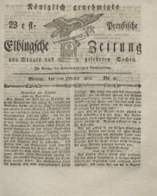 Elbingsche Zeitung, No. 81 Montag, 11 Oktober 1802