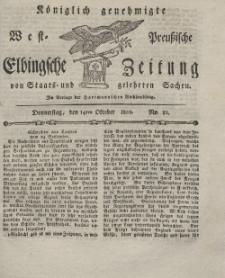Elbingsche Zeitung, No. 82 Donnerstag, 14 Oktober 1802
