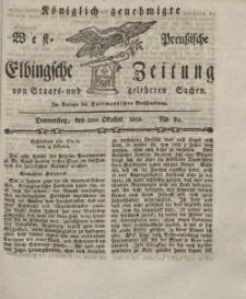 Elbingsche Zeitung, No. 84 Donnerstag, 21 Oktober 1802