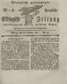 Elbingsche Zeitung, No. 85 Montag, 25 Oktober 1802