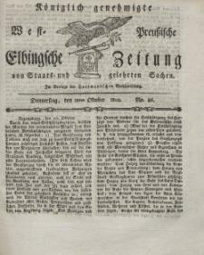 Elbingsche Zeitung, No. 86 Donnerstag, 28 Oktober 1802