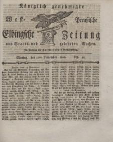 Elbingsche Zeitung, No. 93 Montag, 22 November 1802