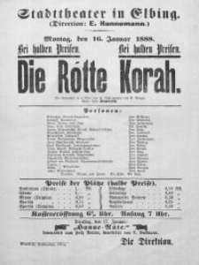Die Rotte Korah - R. Schlingmann,V. Menzel
