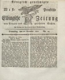 Elbingsche Zeitung, No. 98 Donnerstag, 9 Dezember 1802