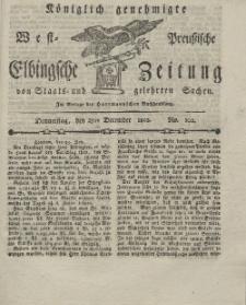 Elbingsche Zeitung, No. 102 Donnerstag, 23 Dezember 1802