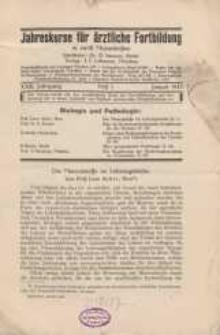 Jahreskurse für ärztliche Fortbildung, XXIII. Jahrgang, 1932, H. 1-12