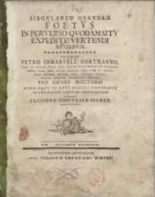 Singularem quandam foetus in perverso quodam situ expedite vertendi methodum...