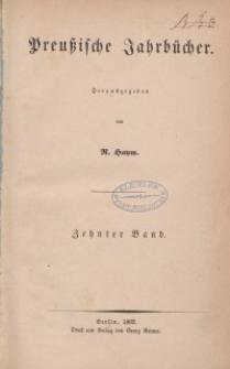 Preußische Jahrbücher, 1862, Bd 10.