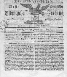 Elbingsche Zeitung, No. 2 Montag, 7 Januar 1811
