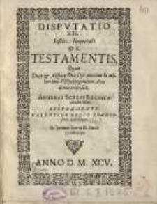 De testamentis, quam [...] Andreas Scheps...