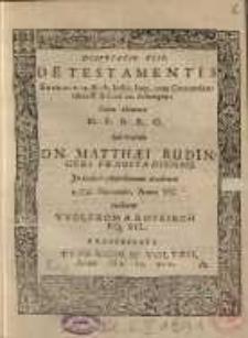 De testamentis [...] sub praesidio Dn. Matthaei Rudingeri...