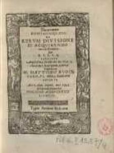 Theoremata disputationis IIII