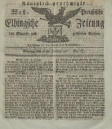 Elbingsche Zeitung, No. 6 Montag, 21 Januar 1811