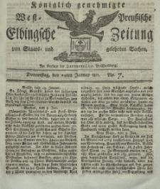Elbingsche Zeitung, No. 7 Donnerstag, 24 Januar 1811