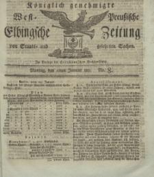 Elbingsche Zeitung, No. 8 Montag, 28 Januar 1811