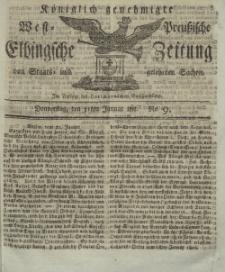 Elbingsche Zeitung, No. 9 Donnerstag, 31 Januar 1811