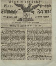 Elbingsche Zeitung, No. 10 Montag, 4 Februar 1811