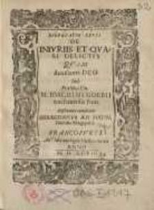 De iniuriis et quasi delictis, quam [...] Ioachimi Gobbii...