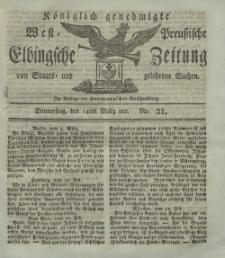 Elbingsche Zeitung, No. 21 Donnerstag, 14 März 1811