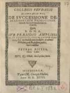 De successione descendentium primogeniorum...
