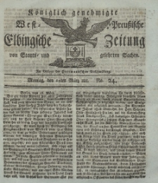Elbingsche Zeitung, No. 24 Montag, 25 März 1811