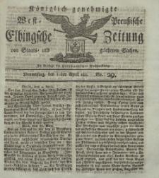 Elbingsche Zeitung, No. 29 Donnerstag, 11 April 1811