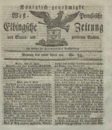 Elbingsche Zeitung, No. 34 Montag, 29 April 1811