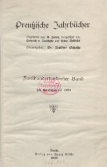 Preußische Jahrbücher, 1925, Bd 201/202.